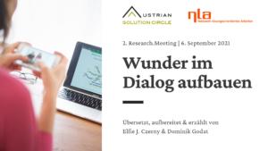 2. Research.Meeting: Wunder im Dialog aufbauen
